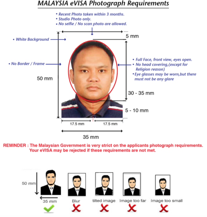 photo requirements for malaysia evisa